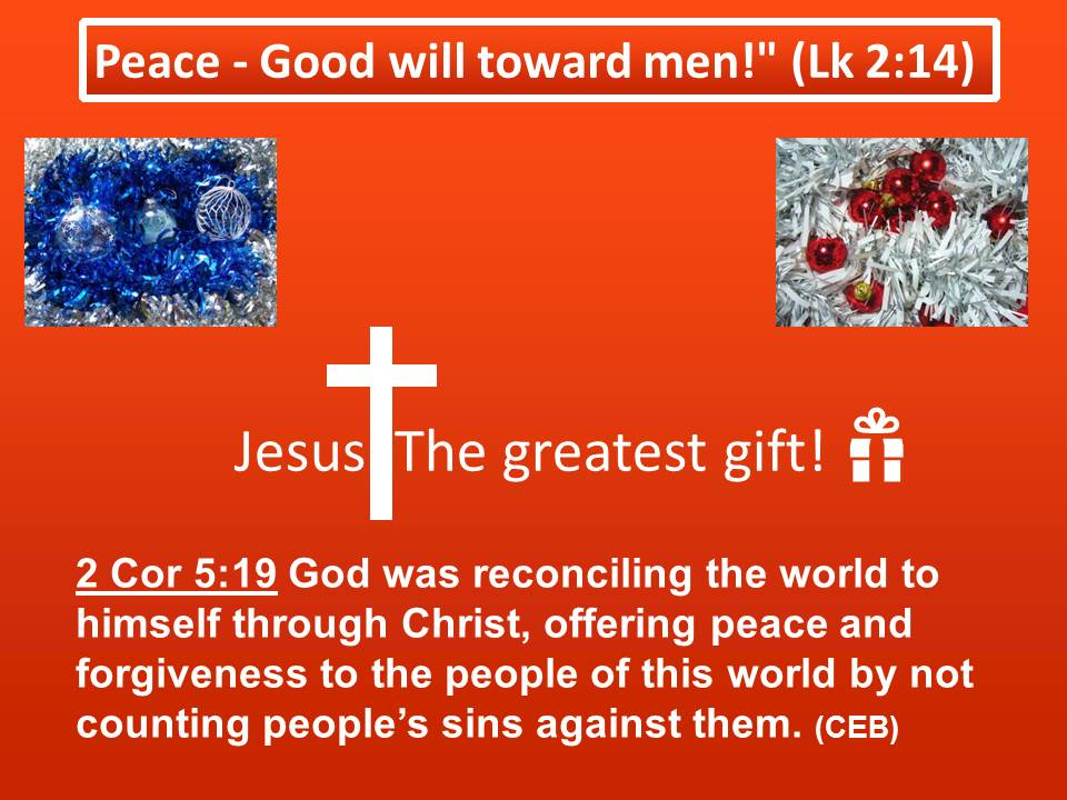 Jesus: The Greatest Gift! Wishing You All A Happy ...